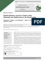 Hospital Pharmacy Practice in Saudi Arabia
