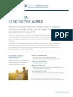 Minnesota- Leading the World in Strategic Metals Mining