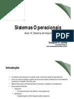 Aula14 - Sistema de Arquivos