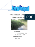 Pencemaran Air Sungai