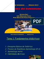 Didàctica del balonmano - Valencia 2012