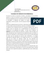 Calidad de Servicio en Venezuela.