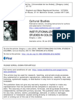 Published Version Institutionalizing Cultural Studies Colombia