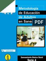 Metodologia de Eduacion de adultos en Saniamiento