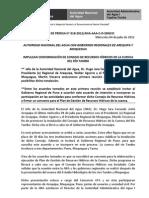 BOLETÍN DE PRENSA 018-2012