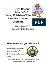 Hands on Doesn't Mean Minds Off-Foldables