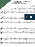 77106705 Alan Silvestri Forrest Gump Theme Piano Sheet Music