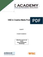 HND Creative Media Handbook