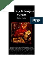 Dante y La Lengua Vulgar