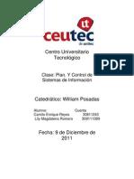 Informe de Plan y Control de Sistemas de Informacion