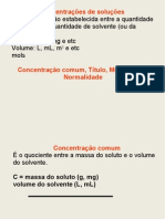 CONCENTRACAO - SOLUCOES