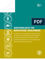 Biotechnologie for Agricultural Development