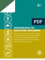 Biotechnologie for Agricultural Development