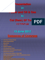 Power and Oil & Gas 14 Sep 2011