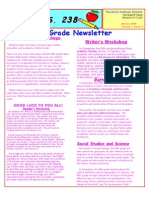 5th Grade Newsletter January 2009