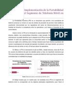 Impacto de la Implementación de la Portabilidad Numérica en el Segmento de Telefonía Móvil en México