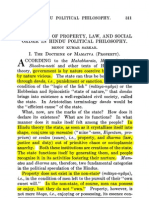 The Theory of Property, Law, and Social Order in Hindu Political Philosophy