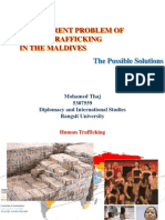 The Current Problem of Human Trafficking in the Maldives - The Possible Solutions