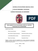 Reglamento de elecciones Agronomía UNSAAC aprobado