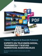 PDP Experto Televisión Social, Transmedia y nuevas narrativas audiovisuales