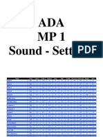 ADA MP1 Sound-Settings