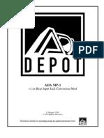 ADA MP-1 v1.Xx Rear Input Jack Conversion Mod