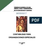 Modulo 7 Contabilidad Para Organizaciones Especiales 2009