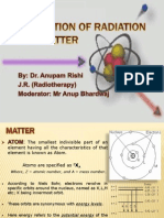 Interaction of Radiation With Matter- Anupam