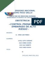 Control Prenatal y Embarazo de Alto Riesgo