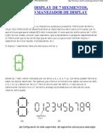 Tema 11_ Display de 7 Segmentos, Circuito Manejador de Display