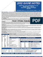 Bluefield Blue Jays Game Notes 7-5