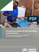 Promoción de medios de vida sostenibles y autosuficiencia