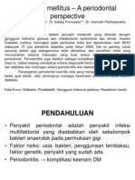 Diabetes mellitus-A periodontal perspective