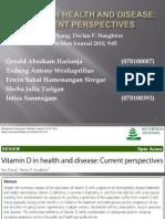 Vitamin D in health and disease
