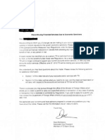 TDbank letter to client
