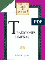 Tradiciones limeñanas, Ricaldo Palma