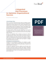 Leveraging Integrated Human Capital Processes to Optimize Organizational Success