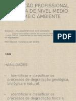 Processos de degradação ambiental.