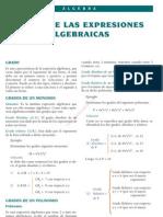 2 Grado de Las Expresiones Algebraicas