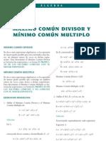 9 MÁXIMO COMUN DIVISOR Y MINIMO COMUN MULTIPLO