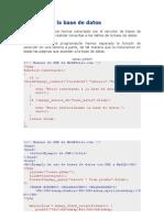 Consultas a La Base de Datos Con Php