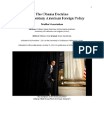 The Obama Doctrine and 21st Century American Foreign Policy