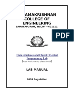 Lab Manual DS and OOPS