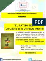 Cartel Obra de Teatro El Patito Feo