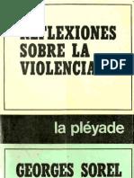 Sorel Georges Reflexiones Sobre La Violencia 1908 OCR