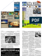 "Kuta Weekly-Edition 292 ""Bali""s Premier Weekly Newspaper"""