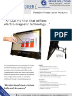 Interactive LCD monitor (GeneeClasscreen)
