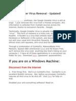 Google Installer Virus Removal