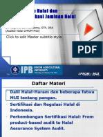 Kajian Pangan Halal Dan Sistem Jaminan Halal