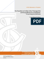 The Transition to Civilian Life of Teenage Girlsand Young Women Ex-Combatants